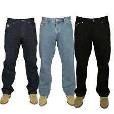 Men's Regular Fit Jeans Smart Casual Work Wear Big King Waist Sizes 30-60 XS-L