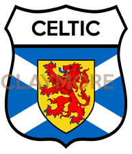 Celtic Scotland car motorcycle sticker saltire flag rampant glasgow football