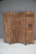 More details for carved teak indian folding screen
