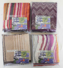 MISSONI HOME 4 HAND TOWELS INDIVIDUAL BRANDED PACKAGING