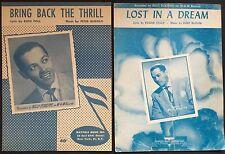 BILLY ECKSTINE black singer LOT OF 2 SONGS: Lost In A Dream, Bring Back 1949-50