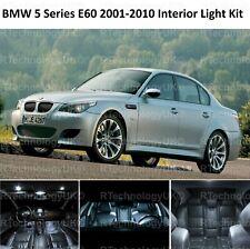 2018 BMW 5 SERIES E60 2001-2010 WHITE INTERIOR WHITE UPGRADE LED LIGHT BULBS