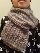 hand-knitted mohair scarf( gray)