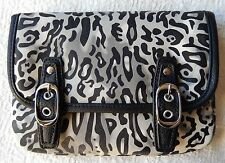 NEW Grace Adele LYNN Ocelot Clutch Purse Bag 22 inch detachable strap HTF
