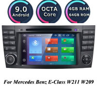 "For Mercedes-Benz E-W211 7"" IPS Android 10.0 Car Stereo DVD GPS Radio Octa-Core"