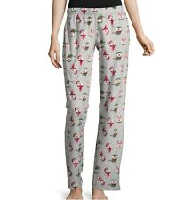 ae8591e721 Jr Womens Soft Fuzzy Fleece Pajama Sleep Pants Christmas Polar Bear Size  Medium