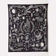 Wall Hanging OK Sign Bohemian Tapestry Home Decoration Black and White Design