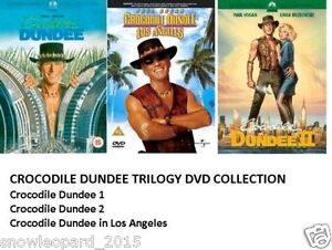CROCODILE DUNDEE TRILOGY DVD COLLECTION PART 1 2 3 LOS ANGELES MOVIE FILM New UK