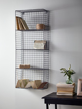 Industrial Metal Wire Locker Room Shelving Storage Tall Display Wall Unit 102cm