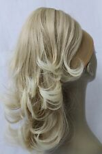 "New 14"" Light Blonde Synthetic Claw Clip Ponytail Layered Hair Piece-Approx.133g"