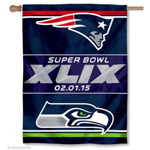 2015 Super Bowl XLIX Dueling Banner Flag