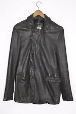 **AWESOME SAUCE** AllSaints Mens BUNKER Leather Military Coat SMALL peacoat