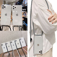Crossbody Case Clear Transparent TPU Cell Phone Cover For iPhone 11 X XR 7 8Plus