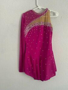 Figure skating dress pink, size 2