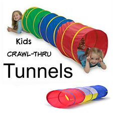 3 Color Pop up Play Tunnel Indoor / Outdoor for kids with Mesh - Unlimited fun.