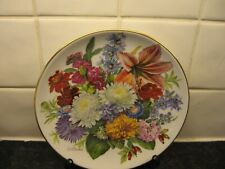 Ursula Bands Seasons Flower Plate - Autumn Tints - Bradford Exchange