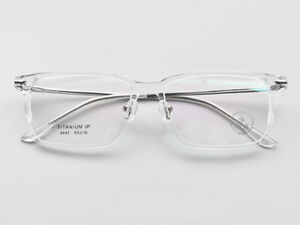 Wide Rectangular Mens Frame Light Prescription Glasses Acetate Titanium Large