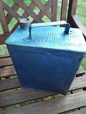 Vintage Shell Max & BP 2 Gallon Petrol Can With Brass Lid Car Caravan Rally