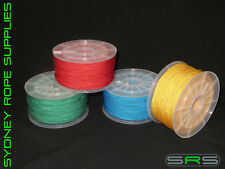 3MM X 100MTR VB CORD YELLOW,RED,BLUE AND GREEN FREE SHIPPING AUSTWIDE