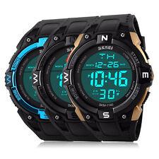 Mens Boys Waterproof Digital Sport Wrist Watch Skmei LED Quartz Date Alarm Watch