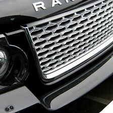 Black+Silver Autobiography style grille for Range Rover L322 2010 on design pack