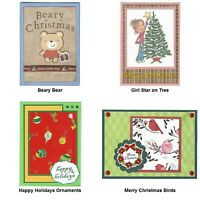 4 CHRISTMAS Greeting Cards Lot #2 - Handmade and Unique