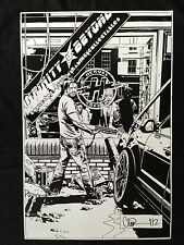 THE WALKING DEAD #106 ADLARD 100 COVER EXCLUSIVE B&W A2 PRINT SIGNED