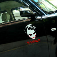 Why so Serious Ho Batman Vinyl Reflective Door Window Car Auto Decal Sticker