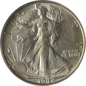 1942-D Walking Liberty Half Old Fatty Holder NGC MS65 Great Eye Appeal