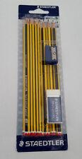 Staedtler Noris Lápices HB Paquete de 10 con sacapuntas y goma de borrar