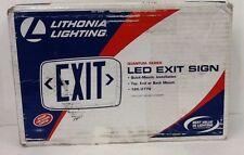 New Lithonia Lighting Led Exit Sign, Lqm P W 3R 120/277V, Sw00 M6