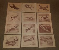 (Huge Lot of 49) 1940's WWII Bomber and Fighter Plane Lithographs by Ted Grohs!!