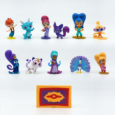 12 Pcs Nicklodeon Cartoon Shimmer and Shine 8cm Play Toy Figure Cake Topper Gift