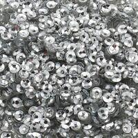 1200 Pailletten Ø 4mm Silber Gewölbt im Blister für Kleidung und Schmuck PAI11