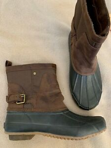 LUCKY BRAND Brown Rubber Front Buckle Shaft Ankle Duck Boots WEENDIE 7 M