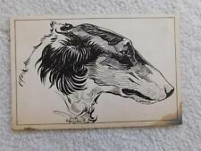 Russian Wolfhound Borzoi Dog 1930s Original Art by Dick Spencer Ii