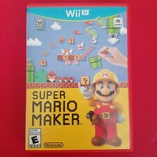 Nintendo Wii U Super Mario Maker Game Disc & Case 2015 *AS IS UNTESTED*