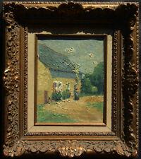LISTED Robert Raymond View of House OLD French Impressionist Oil Painting NO RES