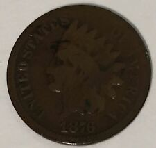 1876 INDIAN HEAD CENT - BETTER DATE -NICE G