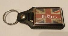 THE BEATLES flag LEATHER KEYRING  xmas cd gift idea