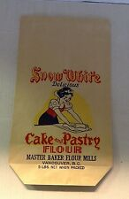 Snow White Cake and Pastry Flour Bag  Unused