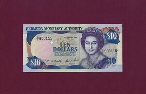 BERMUDA 10 DOLLARS 1993 P-42 GEM UNC RARE