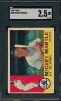 1960 Topps Set Break # 350 Mickey Mantle SGC 2.5 Not PSA *OBGcards*