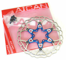 Aican Superlight Floating 2 piece Disc brake rotor 75g 160mm Blue vs Hope