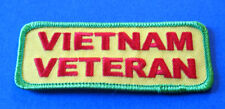 VIETNAM VETERAN PATRIOTIC MILITARY BIKER IRON ON PATCH