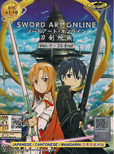 SWORD ART ONLINE VOL. 1-25 END JAPANESE ANIME DVD BOXSET ENG SUB