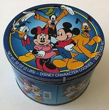 Tin Box Disney Cookies Denmark Mickey Mouse Minnie Goofy Pluto Donald Duck Metal