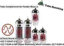 JJ Electronics/Tesla Tube Complement set for Fender Blues Jr guitar amplifier