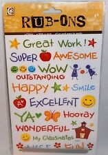 RUB-ONS School Theme Decorate Paper,Photo,Fabric, Easy to apply
