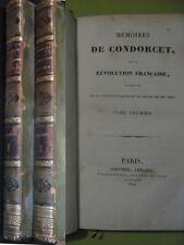 Mémoires de Condorcet sur la Révolution, extraits de sa correspondance EO 1824